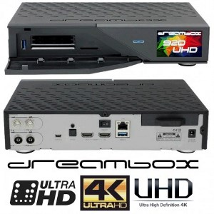 Dreambox 920 UHD 4k e2 - Triplo Tuner multistream-USATO in garan